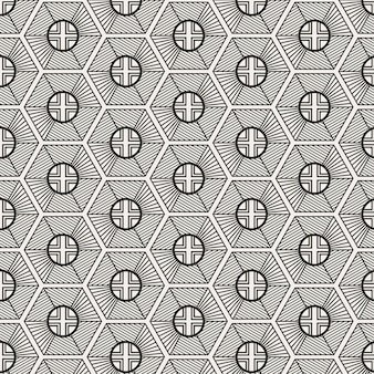 Design moderno e minimalista tradicional coreano com hexágono geométrico e forma arredondada
