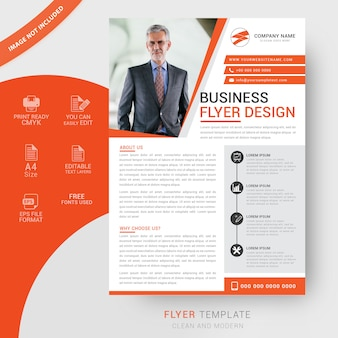 Design moderno flyer corporativo