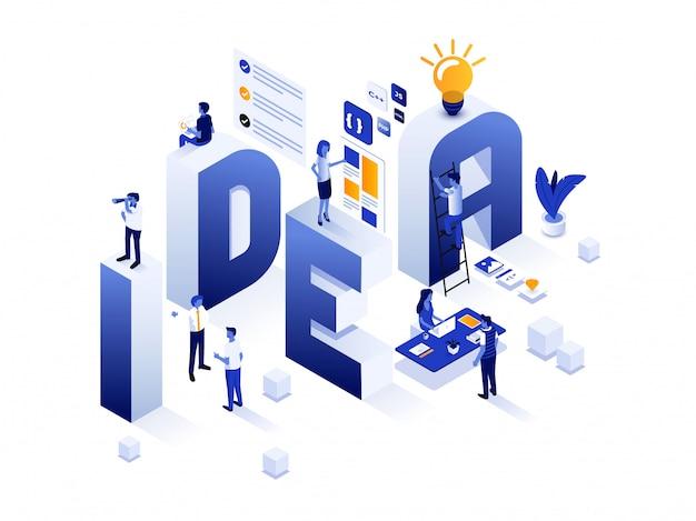 Design moderno ilustração isométrica - conceito de ideia
