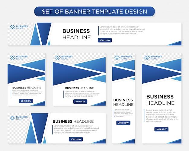 Design moderno modelo de banner