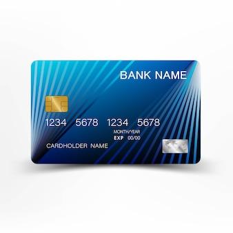 Design moderno modelo de cartão de crédito.