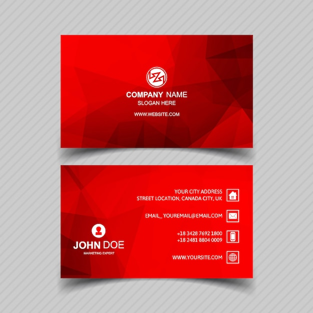 Design moderno modelo de cartão vermelho
