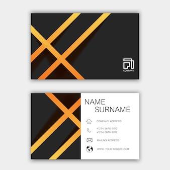 Design moderno modelo de cartão
