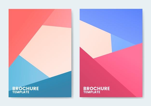 Design moderno modelo de folheto colorido