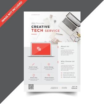 Design moderno modelo de folheto corporativo