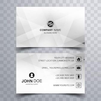 Design moderno modelo geométrico cartão de visita