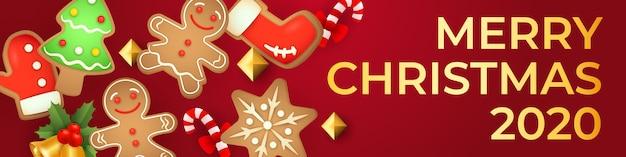 Design moderno para banner de natal