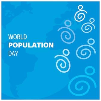 Design moderno para o dia da população mundial