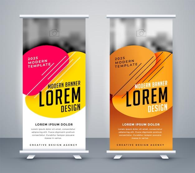 Design moderno standee em estilo abstrato