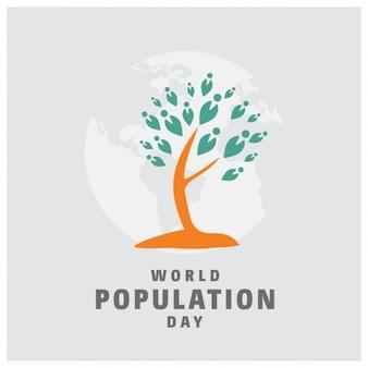 Design mundo dia da população