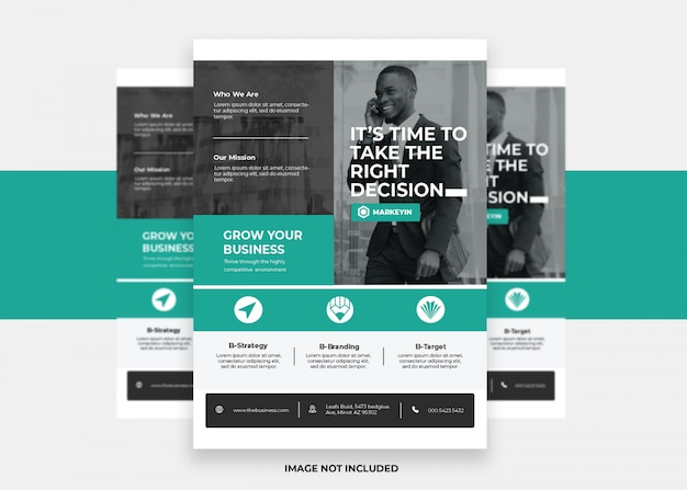 Design negócios apresentação moderna colorida criativo panfleto corporativo