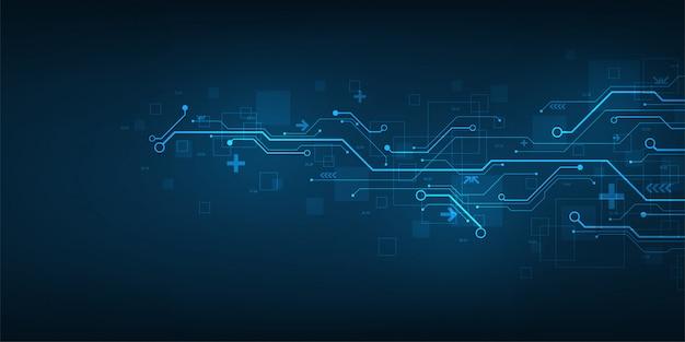Design no conceito de placas de circuito eletrônico.