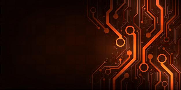 Design no conceito de placas de circuitos eletrônicos.