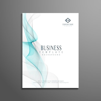 Design ondulado de folhetos comerciais ondulados