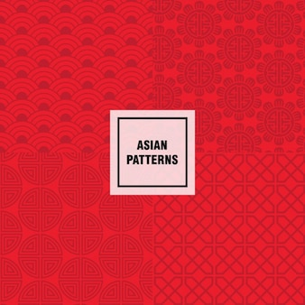 Design padrão asiático vermelho