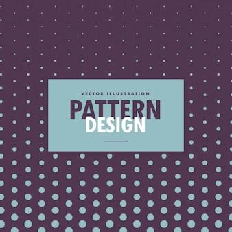 Design padrão de pontos no fundo roxo