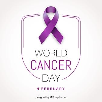 Design para o dia mundial do câncer em estilo realista