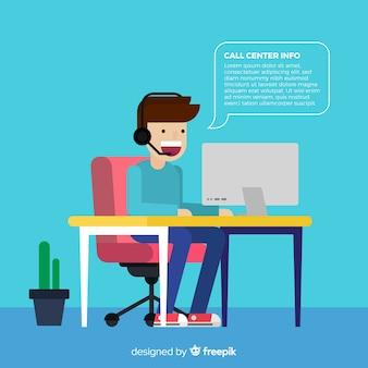 Design plano agente de call center