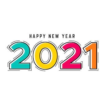 Design plano ano novo 2021