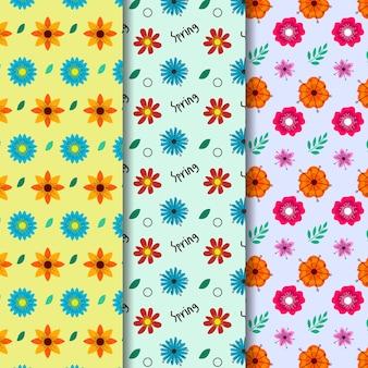 Design plano coleção padrão primavera design