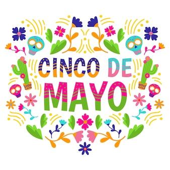 Design plano colorido cinco de maio