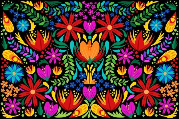 Design plano colorido fundo mexicano