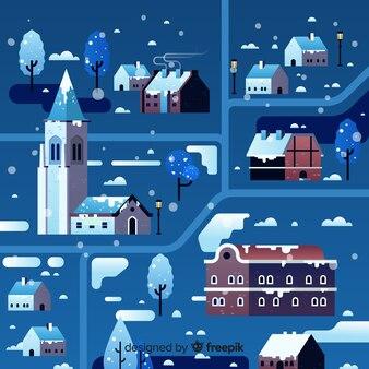Design plano da cidade natal