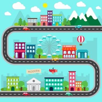 Design plano da cidade