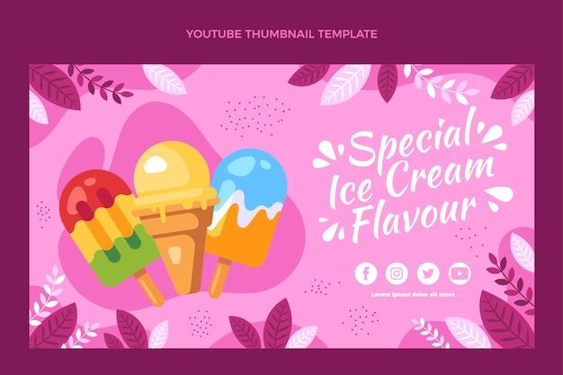 Design plano da miniatura de comida do youtube