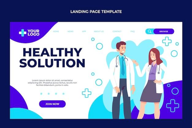 Design plano da página de destino médica