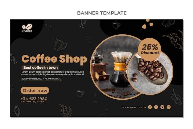 Design plano de banner de venda de alimentos