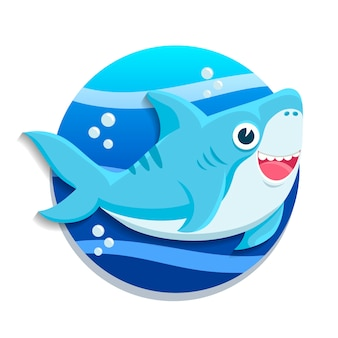 Design plano de bebê tubarão