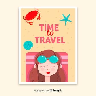 Design plano de cartaz de viagens vintage