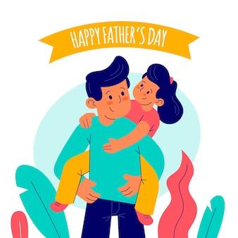 Design plano de celebração do dia dos pais