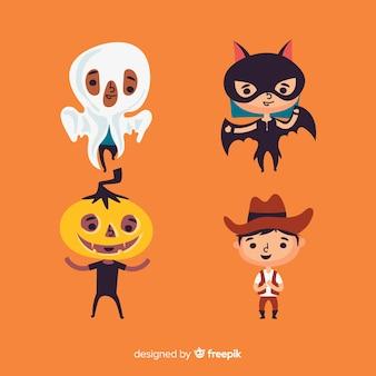 Design plano de coleção de criança de halloween