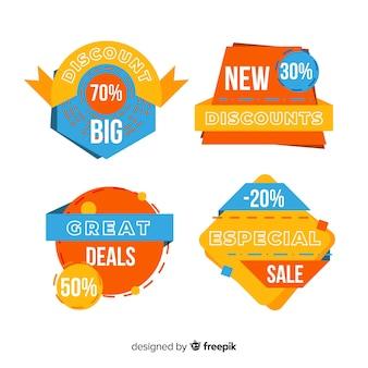 Design plano de coleção de rótulo de vendas