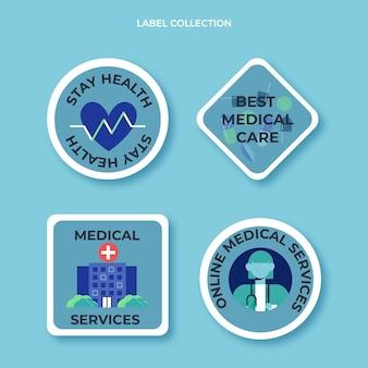 Design plano de etiquetas e crachás médicos