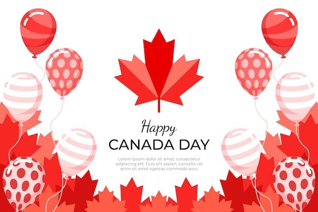 Design plano de fundo de balões do dia do canadá