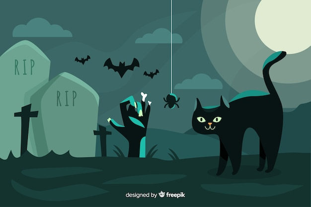 Design plano de fundo de dia das bruxas