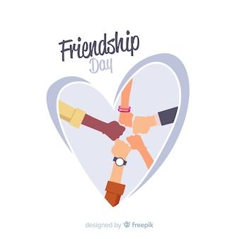 Design plano de fundo de dia de amizade