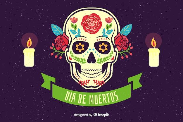 Design plano de fundo de dia de muertos