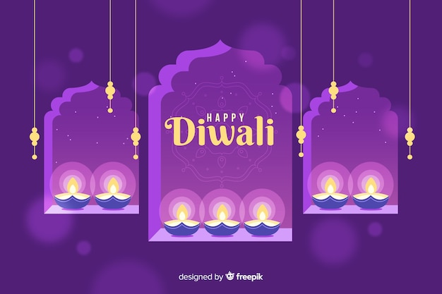 Design plano de fundo de diwali