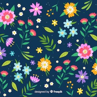 Design plano de fundo de flores coloridas