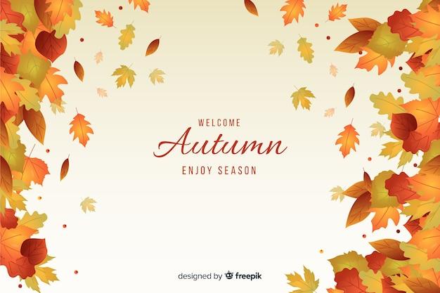 Design plano de fundo de folhas de outono