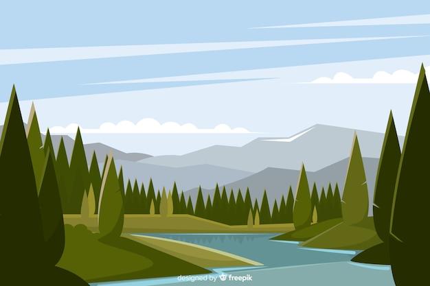Design plano de fundo de paisagem natural