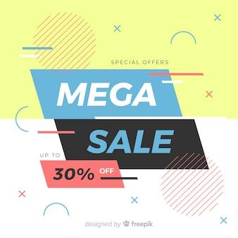 Design plano de fundo de vendas dinâmicas coloridas
