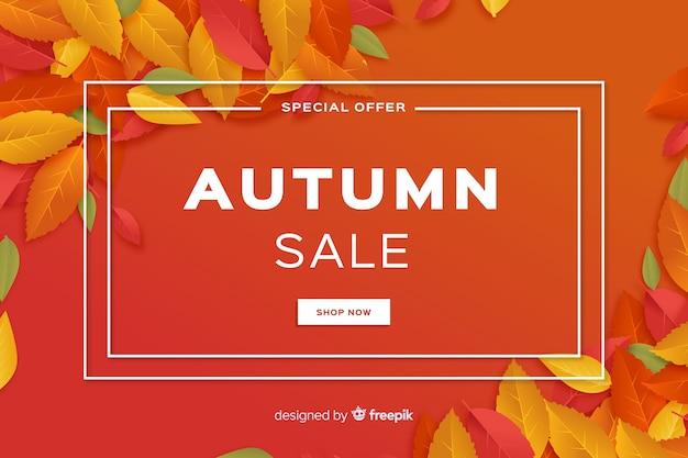 Design plano de fundo de vendas outono