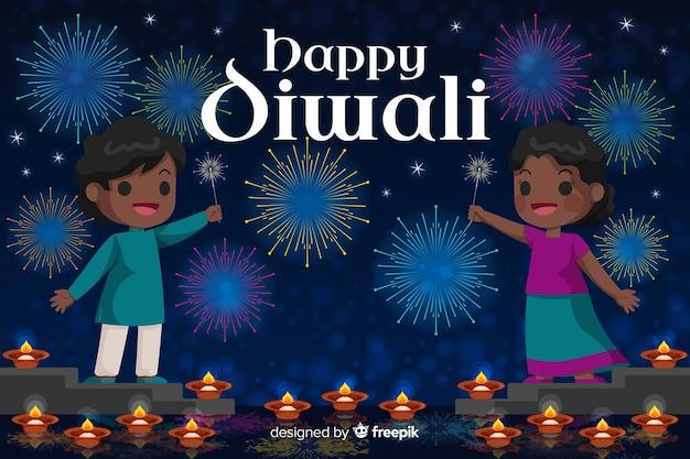 Design plano de fundo feliz diwali