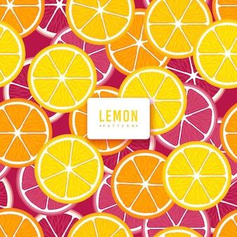 Design plano de fundo padrão de limão