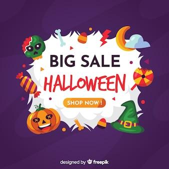 Design plano de halloween para vendas
